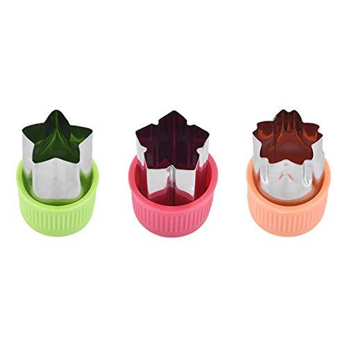 3 Pcs Fruit Star Forme Fondant Gâteau Cookie Plongeur Moule Moule Cutter Outils Ustensiles De Cuisson Moules À Gâteau Gadgets De Cuisine Outil De Cuisson, B, Chine