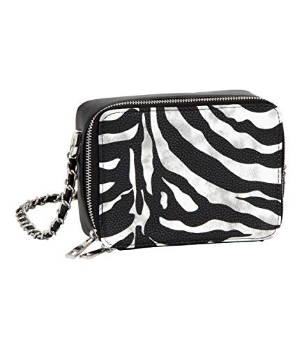 SIX Stylische Cross-Body Bag im Zebraprint, Tierkostüm, Karneval, Fasching, Verkleidung (726-864)