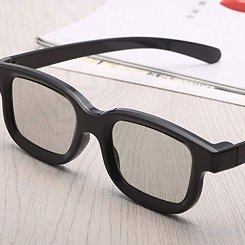 Timetided Universal Unisex ABS Frame 3D-Filmbrille Stereo Not Flash Für 3D-TV-Kinos
