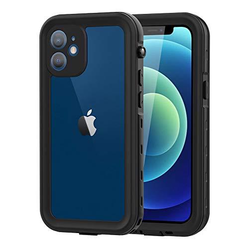 WIFORT Custodia per iPhone 12 Cover Antiurto, Protezione per lo Schermo Incorporata, IP68 Impermeabil Subacqueo, Protezione a 360 Gradi Antipolvere, per iPhone 12(6,1')