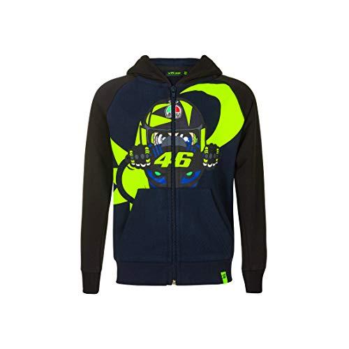 Valentino Rossi Vr46 Classic Sweat Sweatshirt, Jacke, FELPVR46CBB, Blau, 4/5