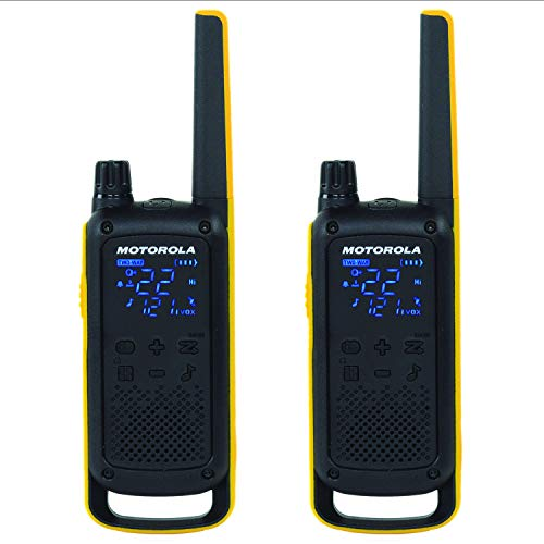 Motorola Solutions T470 Two-Way Radio Black W/Yellow Rechargeable Two Pack