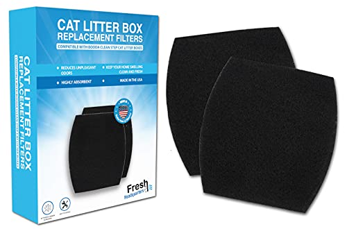 Fresh Headquarters Cat Litter Box Replacement Filters Compatible with...