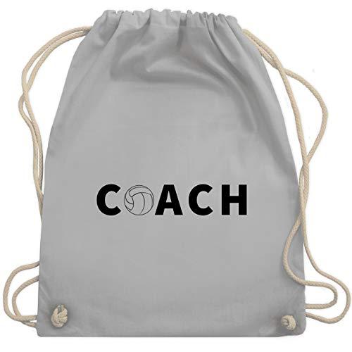 Shirtracer Volleyball - Volleyball Coach Trainer - Unisize - Hellgrau - trainer tasche - WM110 - Turnbeutel und Stoffbeutel aus Baumwolle