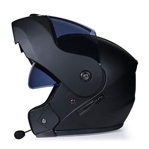 ABDOMINAL WHEEL Bluetooth Casco Moto,Casco Moto Modular ECE Homologado,Doble Visera Casco Moto Abatible,Unisexo para Motocicleta Bicicleta Scooter Cascos de Moto Modulares D,M=(56~57)