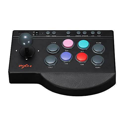 Fighting Stick für PS3, PS4 PXN 0082 Arcade Fight Stick with USB PC Street Fighter Arcade Game Fight Joystick-Controller für Xbox One, Switch, Windows PC, Android TV Box| Schwarz