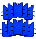 Ronex Sports Pack de Petos de Entrenamiento 10 Unidades para niños, jóvenes y Adultos (Petos Deportivos, Petos de Futbol Azul Marino, Niños (5-10...