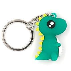 4. Alisa Novelty Cute Dinosaur Soft Silica Keychain