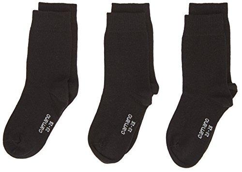 camano GmbH Co KG Camano Mädchen 3701 Socken, Schwarz (black 5), 23-26 (Herstellergröße: 23/26) (3er Pack)