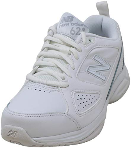 New Balance Women's 623 V3 Casual Comfort Cross Trainer, White/Silver, 8 W US