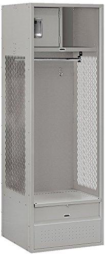Salsbury Industries Open Access Standard Unassembled Metal Locker, 6-Feet-24-Inch, Grey