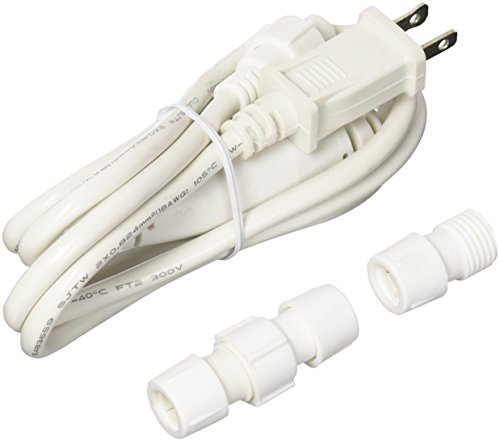 """American Lighting RL-LED-CONKIT-1.6AMP 1/2"""" 1.6 Amp Rope Light Power Cord Designed for DIY Field Cuts, Not UL Listed"""
