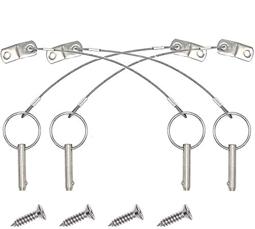 Amadget 4 Pack Quick Release Hinge Pin 1/4
