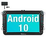Vanku Android 10 Autoradio für Golf 5 6 Touran Polo Radio mit Eingebautes DAB+ NAvi/ 16GB Europakarten Unterstützt Qualcomm Bluetooth 5.0 Android Auto WiFi 4G USB MicroSD 8 Zoll IPS Bildschirm
