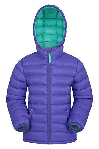 Mountain Warehouse Seasons Gepolsterte Jacke für Kinder, geeignet für alle Jahreszeiten - wasserdichte Winterjacke, leicht & warm Dunkellila 13 Jahre