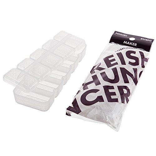 Reishunger Nigiri Sushi Maker für Japanisches Sushi, 5er-Form, (16 x 6 cm) - 4er Vorteilspaket [als 1er, 4er und 10er Set erhältlich]