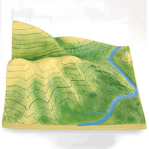 GEEFSU-Geographie Unterricht Modell Show Hills Sättel Steile Hänge Leichte Hänge Valley Lines Ridge Lines Canyons