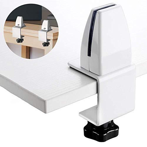 Estornudo Guardia de soportes de la pantalla, 2pcs partición sostenedor del soporte de clip, de aleación de aluminio de vidrio Pinzas Biombo, escritorio de oficina Divisor soporte del sostenedor del clip de la pantalla