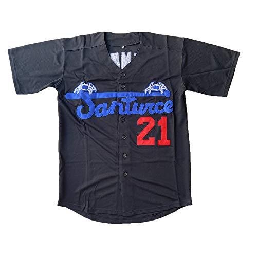 Roberto Clemente #21 Santurce Crabbers Puerto Rico Baseball Jersey Stitched Men Jersey Black White Grey S-3XL (21 Clemente Black, XXX-Large)