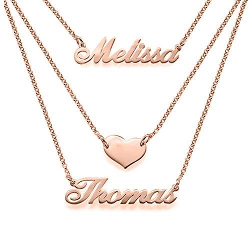 Collar de Nombre Personalizado, Collar de Nombre Personalizado Hecho a Mano Colgante, Regalo de joyería para Mujer