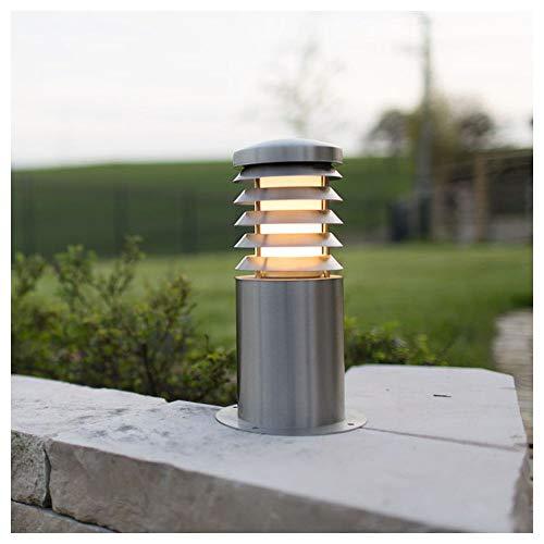 Zewnętrzna lampa stojąca LED E27 15 W Heitronic Calypso 37249 stal szlachetna