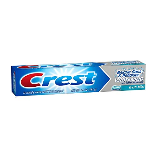 Crest Baking Soda & Peroxide Fluoride Toothpaste Whitening Fresh Mint 6.40 oz (Value Pack of 3)