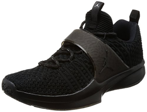 Nike Herren Air Jordan Trainer 2 Flyknit Schwarz Textil/Synthetik Sneaker 47