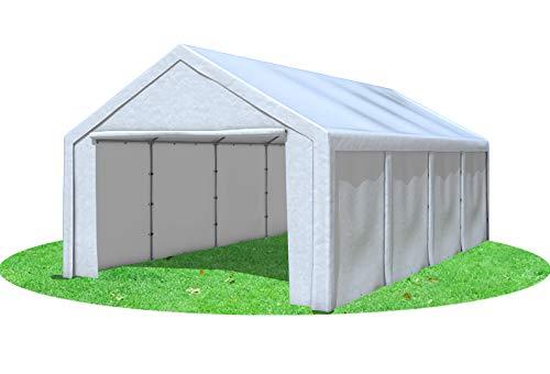 Stabilezelte Partyzelt 4x8 m Modular Pro PE 240 g/m² wasserdicht inkl. Seiten Festzelt Gartenzelt Weiss