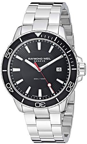Raymond Weil Tango 300 - Reloj de Cuarzo para Hombre, Acero Inoxidable, Color Plateado (Modelo: 8260-ST1-20001)