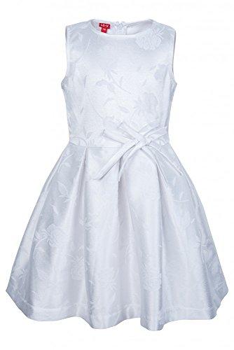 La-V Festliches Kleid weiß mit Schleifen/Größe 158