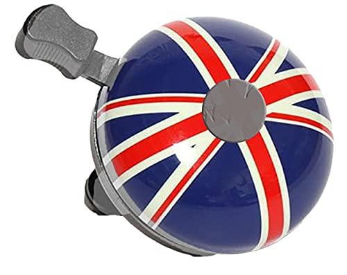 Ducomi Bell - Timbre para bicicleta de niña y niño - Accesorios para manillares de bicicletas y bicicletas con anillo - Timbre de manillar para niños, hombre, mujer, niño y niña (Union Jack)