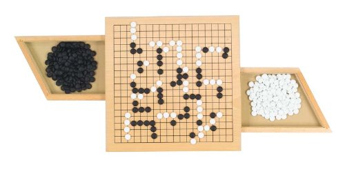 goki 56916 Go Brettspiel mit Ausziehfächern