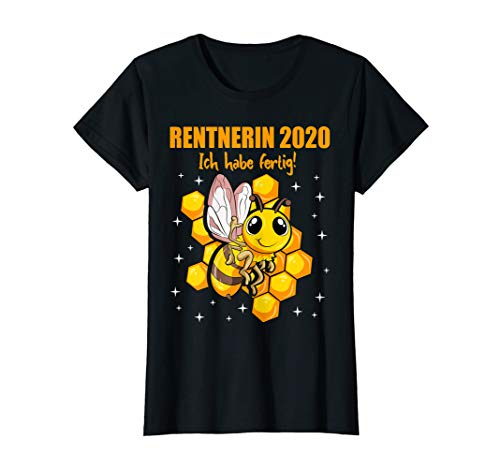 Damen Rentnerin Geschenk 2020 Ruhestand Pension Rente T-Shirt