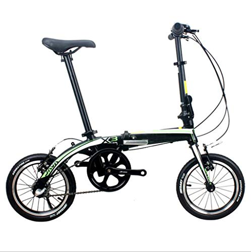 Best Bargain GHGJU Bicycle Folding Bicycle Aluminum Folding Bicycle Inside Three Shift Folding Adult Bicycle Suitable for Mountain Roads and rain and Snow Roads This Bicycle is Collapsible (Color : Black)