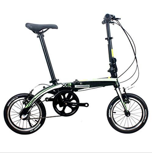 Best Bargain GHGJU Bicycle Folding Bicycle Aluminum Folding Bicycle Inside Three Shift Folding Adult...
