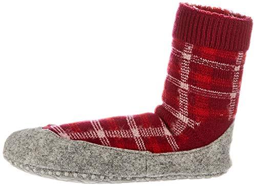 FALKE Damen Cosyshoe Checked W HP Hausschuh-Socken, Rot (Hibiskus 8695), 37-38 (UK 4-5 Ι US 6.5-7.5)