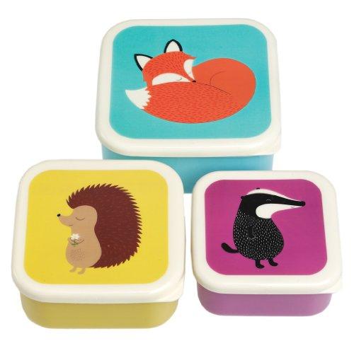 Rex International Tiere - Satz von 3 Snackdosen
