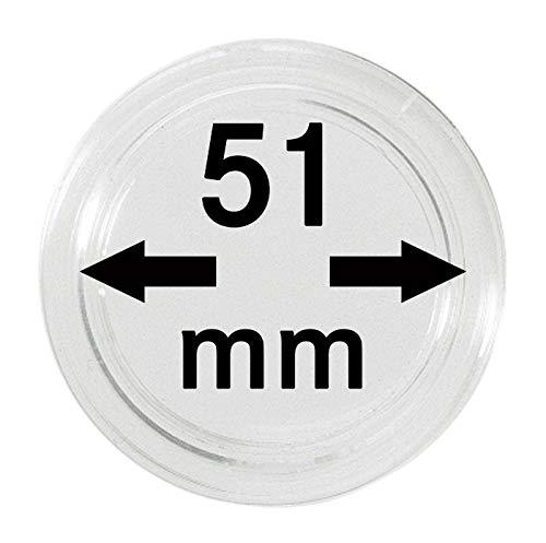 Lindner Münzkapseln für Münzen Ø 14 - 50 mm. Zur Wahl per 1, 5, 10, 100 Stück (51 mm - per 10)