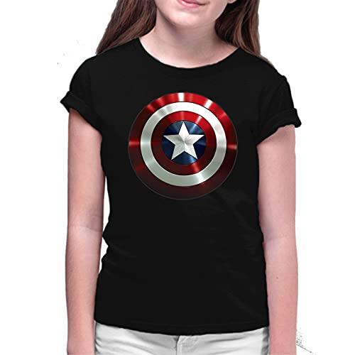 the Fan Tee Camiseta de NIÑAS Capitan America Vengadores Ironman Hulk Thor 005 11-12 Años