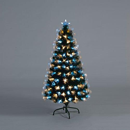 Snowtime 6ft Colour Burst White Fibre-Optic Christmas Tree