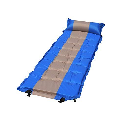 Zhhlinyuan Imperméable Pliant Tapis Gonflable avec Oreiller - épaissie Splicable Coussin Matelas d'air pour Camping Randonnée Randonnée