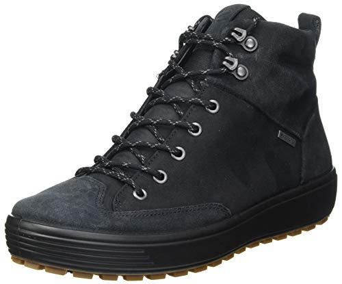 ECCO Herren Soft 7 TRED GTX High Hohe Sneaker Ankle Boot, Schwarz (Black/ Black 51052), 45 EU
