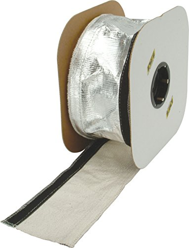 """Design Engineering 010405 Heat Shroud 1/2"""" - 1-1/4"""" I.D. x 3ft Aluminized Sleeving for Ultimate Heat Protection (with Hook and Loop Closure)"""