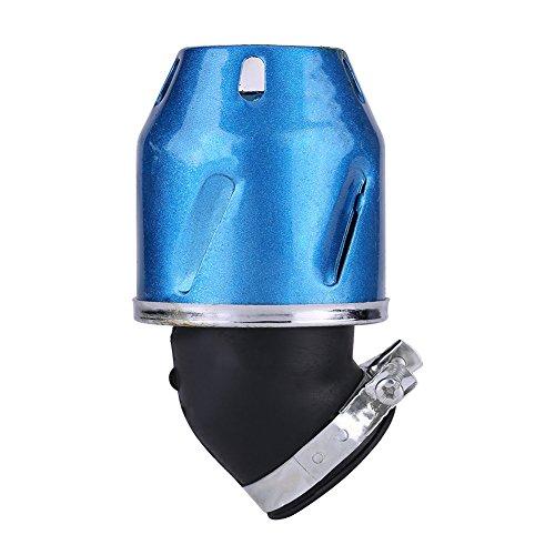 Esenlong Einlass mit Kugelförmigem Luftfilterreiniger für Motorradroller ATV Dirtbike 35Mm (Blau)