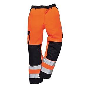 Leo Workwear CT01 Bideford Men Hi Vis Cargo Trousers Reflective Polycotton Pants