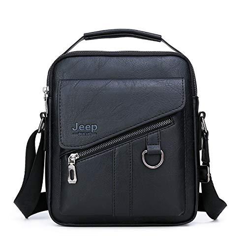 csfssd Men's jeep bag shoulder bag fashion business minimalist hand to mention the retro handbag PU leather (Color : 2)