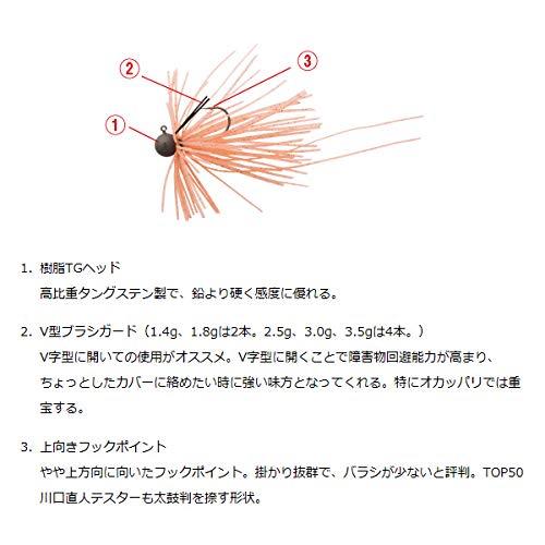 ダイワ(DAIWA)バススモールラバージグSS1.4gワインレッドルアー