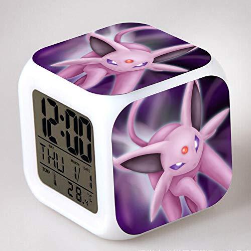 HHKX100822 Pokemon Go Pet Pokemon Wecker Kinder Geschenk Färbung Bunte Wecker 12