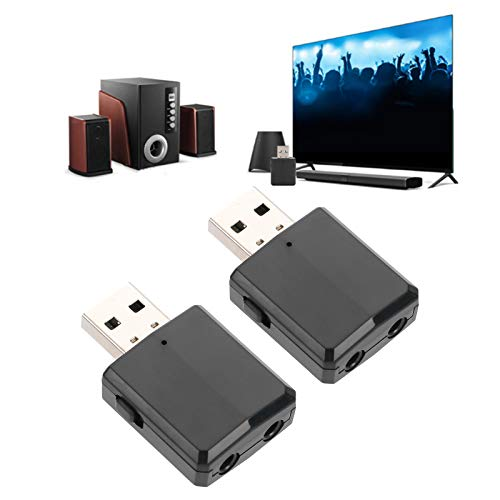 DAUERHAFT Adaptador 2 en 1 Receptor Transmisor de Audio Bluetooth Negro para TV Computadora de Coche