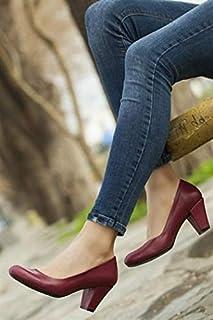 TARÇIN Hakiki Deri Günlük Kadın Topuklu Ayakkabı TRC50-1073
